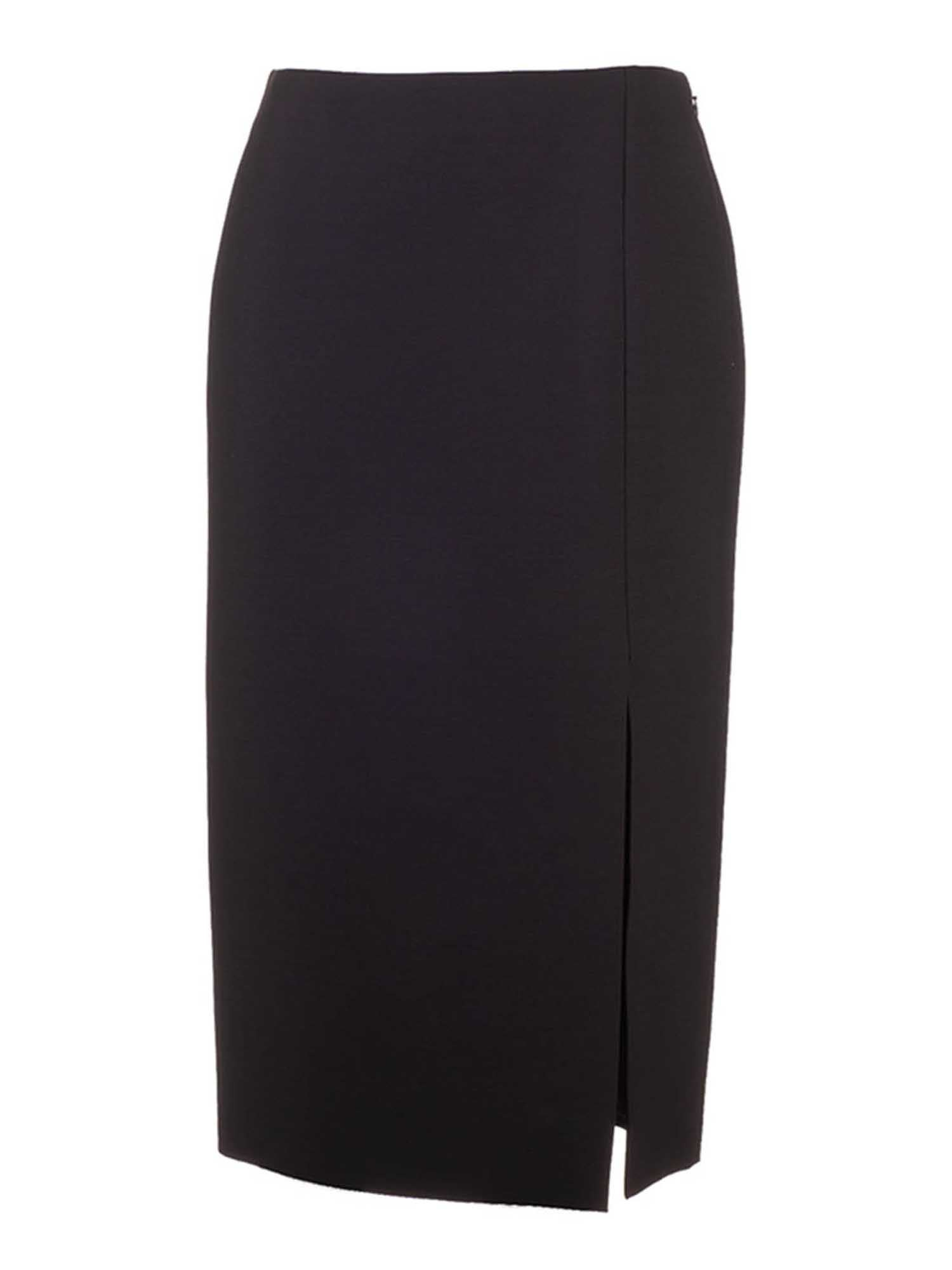 Valentino SLIT LONG SKIRT IN BLACK