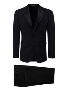 Dsquared2 - Satin lapel black suit in black