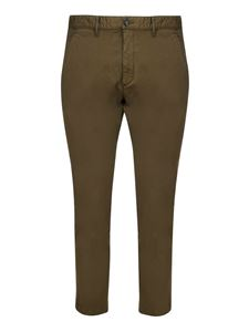Dsquared2 - Pantaloni chino in cotone verde
