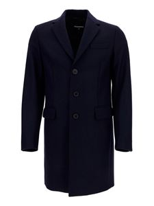 Dsquared2 - Cappotto in misto lana blu
