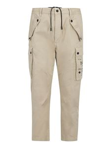 Dsquared2 - Pantaloni cargo in cotone stretch beige