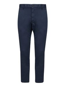 Dsquared2 - Pantaloni chino in cotone blu