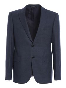 Emporio Armani - Wool blend suit in blue