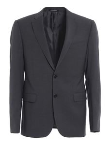 Emporio Armani - Mélange wool suit in grey