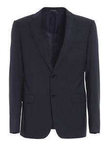 Emporio Armani - Mélange wool suit in blue