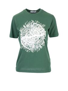 Stone Island Junior - T-shirt featuring front logo in  green