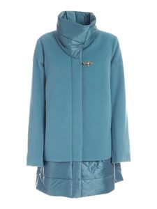 Fay - Synthetic padding coat in light blue