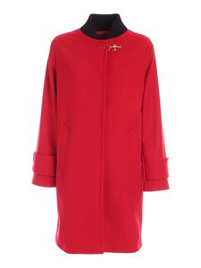 Fay - Lined coat in red
