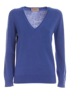 Kangra Cashmere - Cashmere and virgin wool pullover in blue