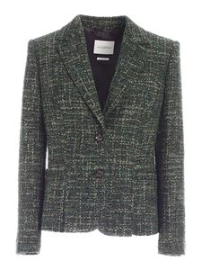 Ballantyne - Giacca in tweed bouclè verde