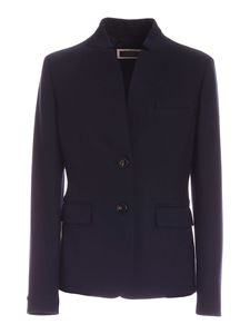 Peserico - Semi-lined single-breasted jacket in blue