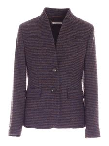 Peserico - Single-breasted striped jacket in blue