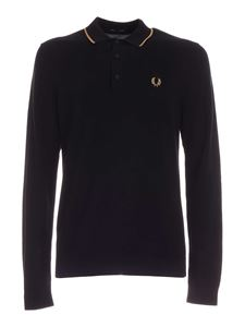 Fred Perry - Logo embroidery polo shirt in black