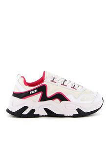 MSGM - Leather and neoprene sneakers in multicolor