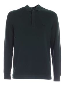 Lacoste - Long-sleeved polo shirt in green