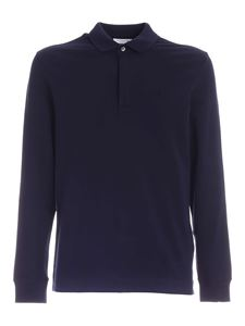 Lacoste - Long-sleeved polo shirt in blue