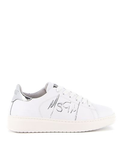 MSGM - Msgm spray effect sneakers in white