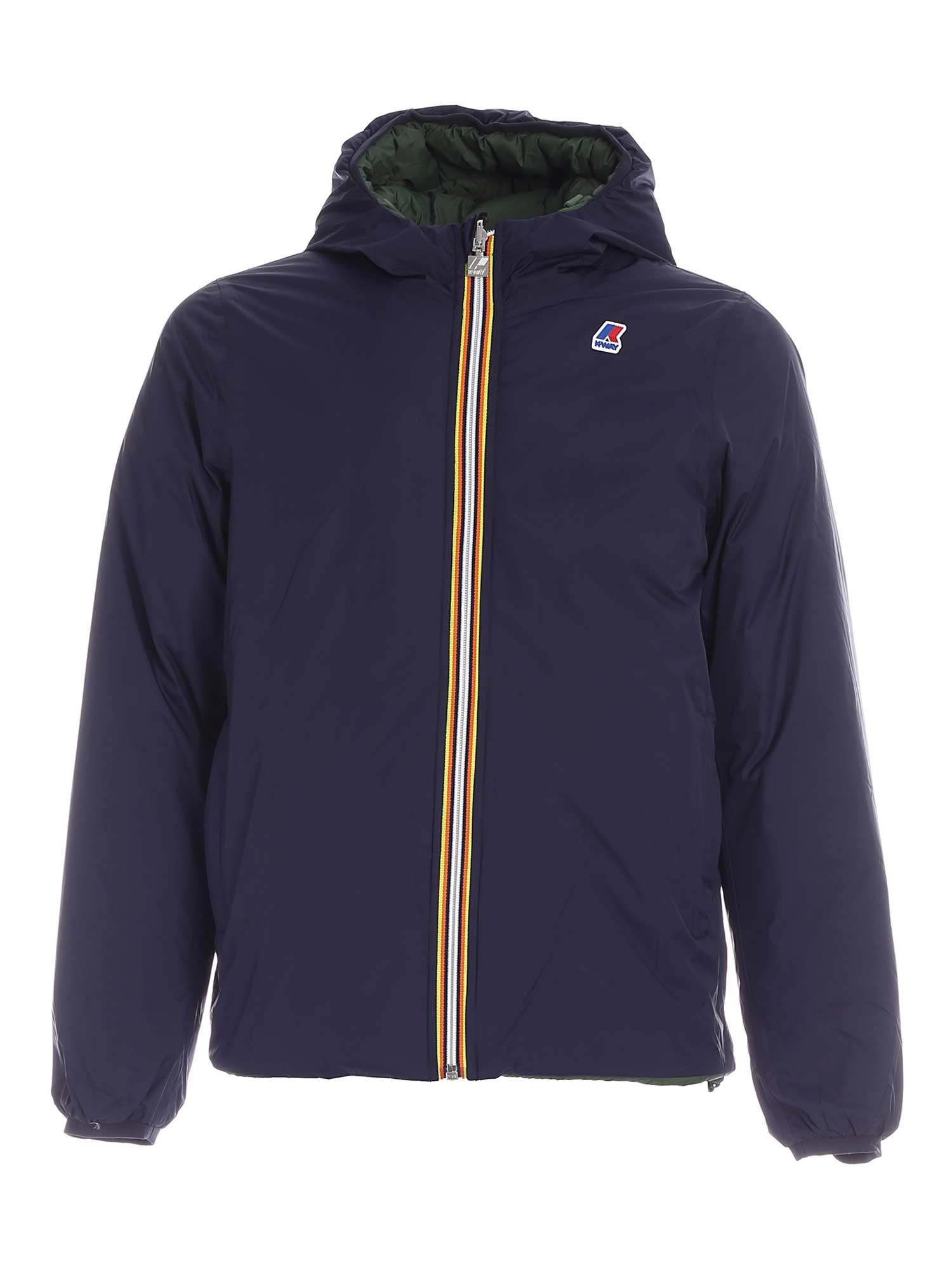 K-Way JACQUES THERMO PLUS2 DOWN JACKET IN BLUE