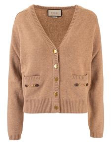Gucci - Horsebit cardigan in camel color