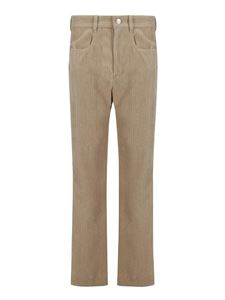 Isabel Marant - Pantaloni in velluto a coste beige