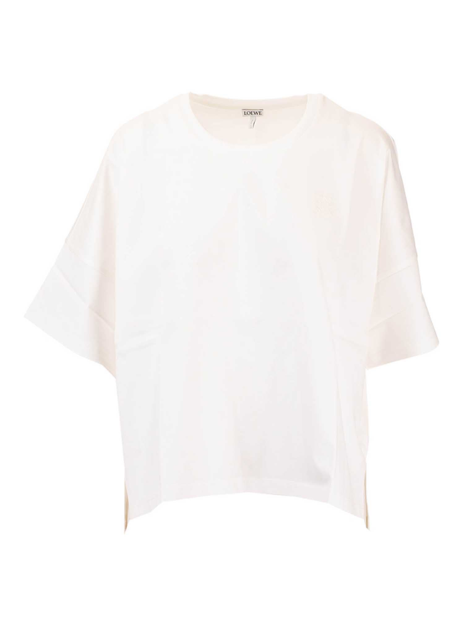 Loewe OVERSIZED T-SHIRT WITH ANAGRAM IN WHITE