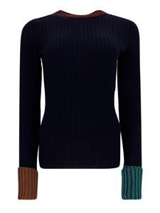 Lanvin - Contrasting cuff sweater in blue
