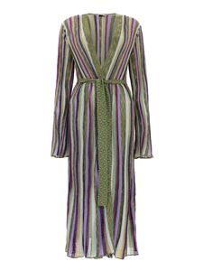 M Missoni - Striped maxi cardigan in multicolor