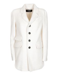 Dsquared2 - Short coat in white