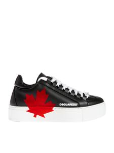 Dsquared2 - Red logo detailed sneakers in black