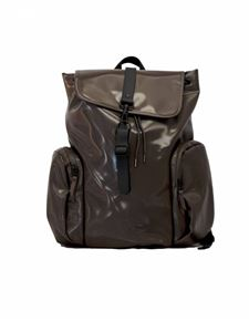 Rains - Multi-pocket backpack in shiny brown