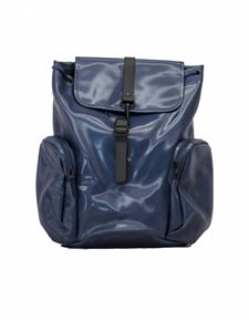 Rains - Multi-pocket backpack in shiny blue