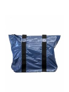 Rains - Tote bag in shiny blue