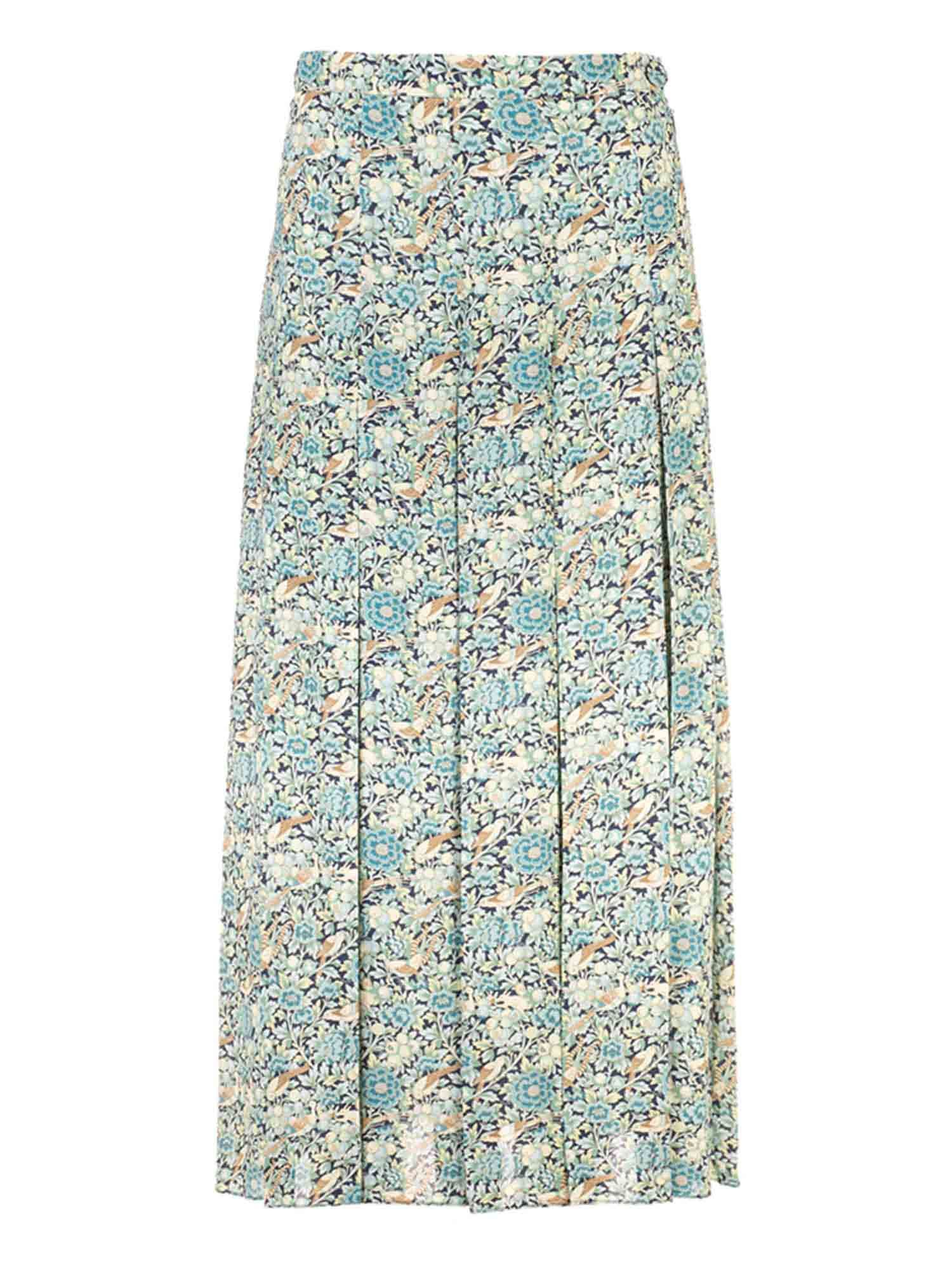 Gucci LIBERTY FLORAL PRINT SKIRT IN LIGHT BLUE