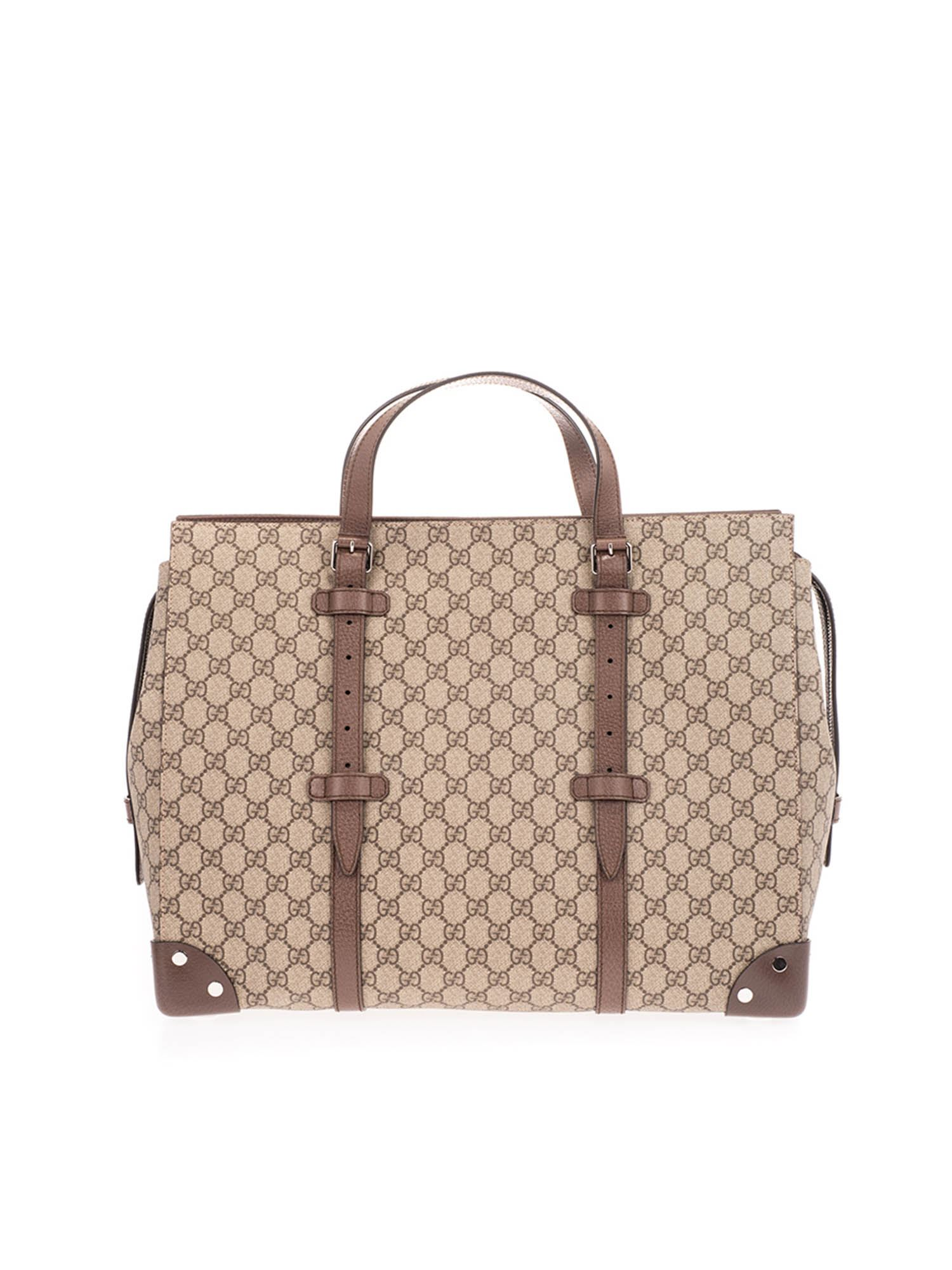 Gucci LARGE GG BAG IN BEIGE