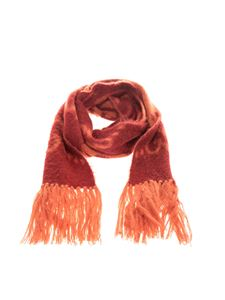 Gucci - GG scarf in red and orange