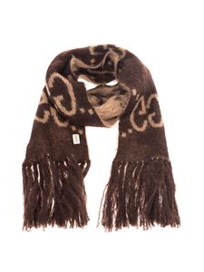Gucci - GG scarf in beige and brown