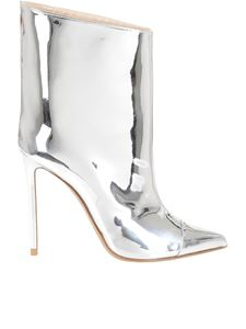 Alexandre Vauthier - Mirrored Alex ankle boots in metallic color