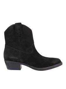 Ash - Ike ankle boots in black