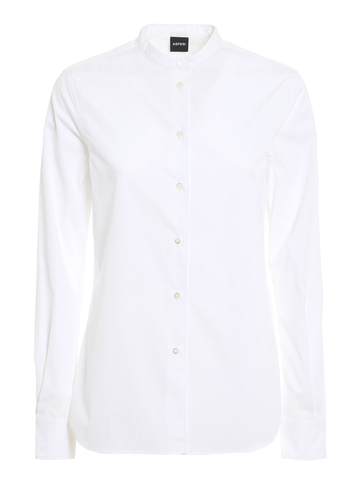 Aspesi COTTON POPLIN SHIRT IN WHITE