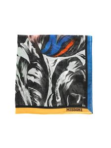Missoni - Floral pattern handkerchief in black and white
