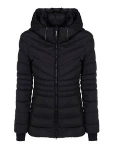 Woolrich - Quilted hooded jacket in black