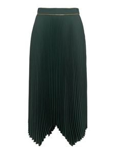 Tory Burch - Pleated midi skirt in green