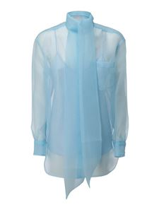 Tory Burch - Organza shirt in  in light blue