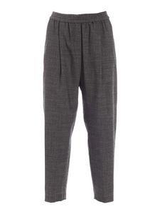 Aspesi - High-waisted crop pants in anthracite color