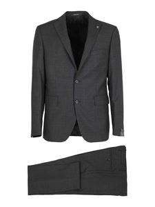 Tagliatore - Napoli wool and silk suit in grey