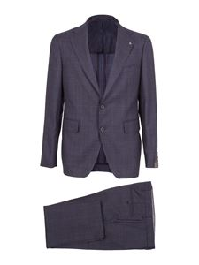 Tagliatore - Vesuvio checked wool suit in blue