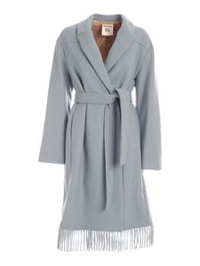 Semicouture - Monique double-breasted coat in light blue