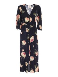 Semicouture - Collen floral print dress in black