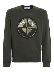 Stone Island - 3D Thread Compass sweatshirt in green