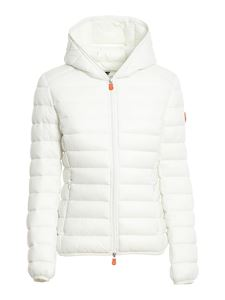 Save the duck - Quilted hooded jacket in white